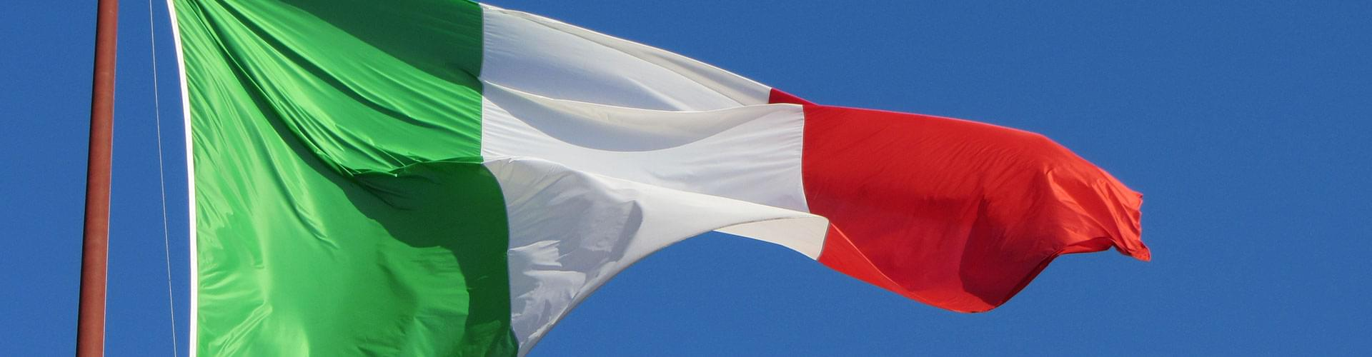 The Italian flag, il tricolore, flags italy